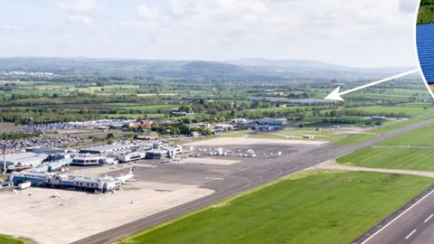 solar farm Belfast international airport