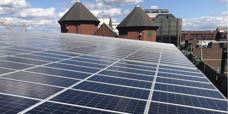 solar carport system in South London on behalf of Sutton Council
