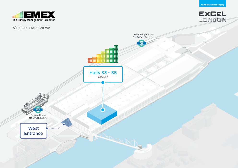 EMEX location in ExCeL